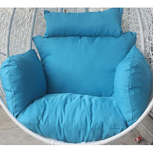 SONGYU Cuscini per sedili a Nido d'Ape per mobili, Cuscino per Sedia in Vimini a Dondolo Morbido e Rimovibile Extra Confortevole Cuscino per Culla per Cesto Appeso Blu Cielo