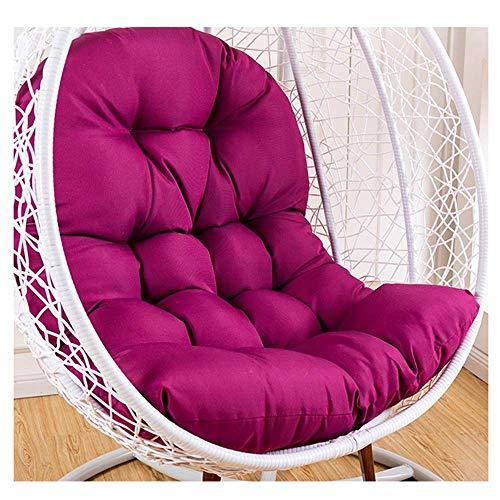 Cuscini a Forma di Nido d'uovo, Morbido Cuscino per Sedia a Dondolo Cuscino per Sedile a Cestino sospeso Cuscino per Sedile in Vimini Rattan Senza Supporto (Colore: 04)