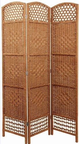 Paravento in vimini intrecciato, 5colori selezionabili 120 x 170 cm naturale