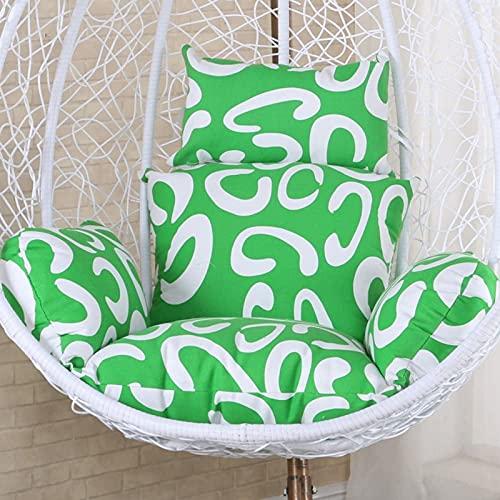 LCJD Cuscini per sedie pensili con Amaca per Uova, Senza Supporto Cuscino per Sedia a Dondolo in Vimini Morbido e Multicolore, Nido d'Ape -a