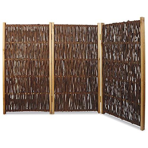 Paravent - Paravento in vimini, 3 pezzi, 180 x 120 cm