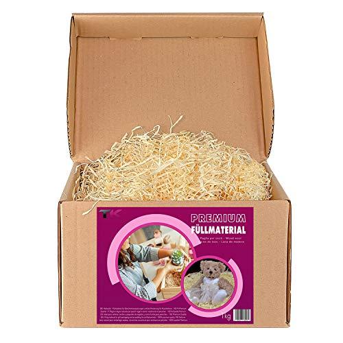 Paglietta per cesti | Paglia per ceste natalizie regalo vuote | Truciolo in legno per cestini vuoti e per imballaggio | Pagliuzza per confezioni e decorazioni (1 Kg)